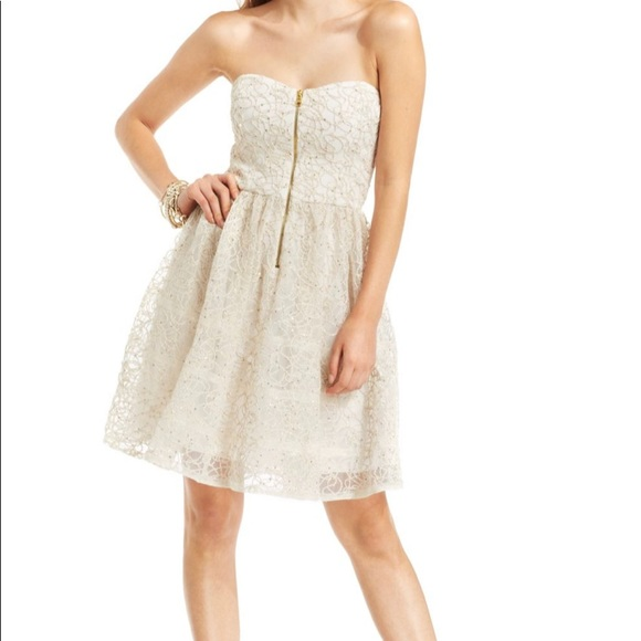 Betsey Johnson Dresses & Skirts - HOLIDAY GLAM Betsey J Lace Strapless Dress DR-24